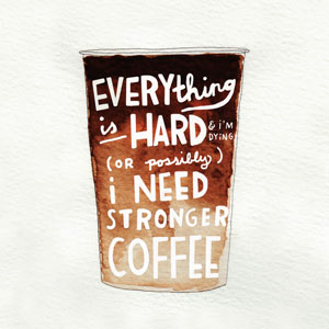 I Need Coffee  //  Lettering