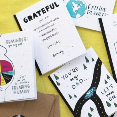 thoughtful human cards - illustration & design