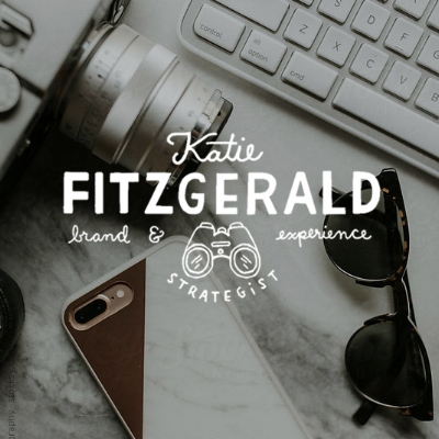 Katie fitz logo & branding - design & illustration