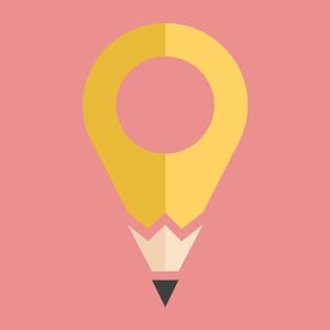 pencil marker logo design