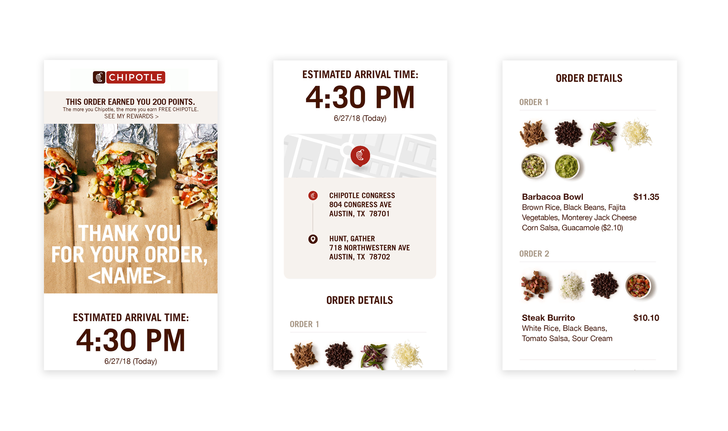 CHIPOTLE EMAIL DESIGN - I helped to design various emails, desktop and mobile, for Chipotle's launch of their Rewards program as well as refresh some of their current emails.