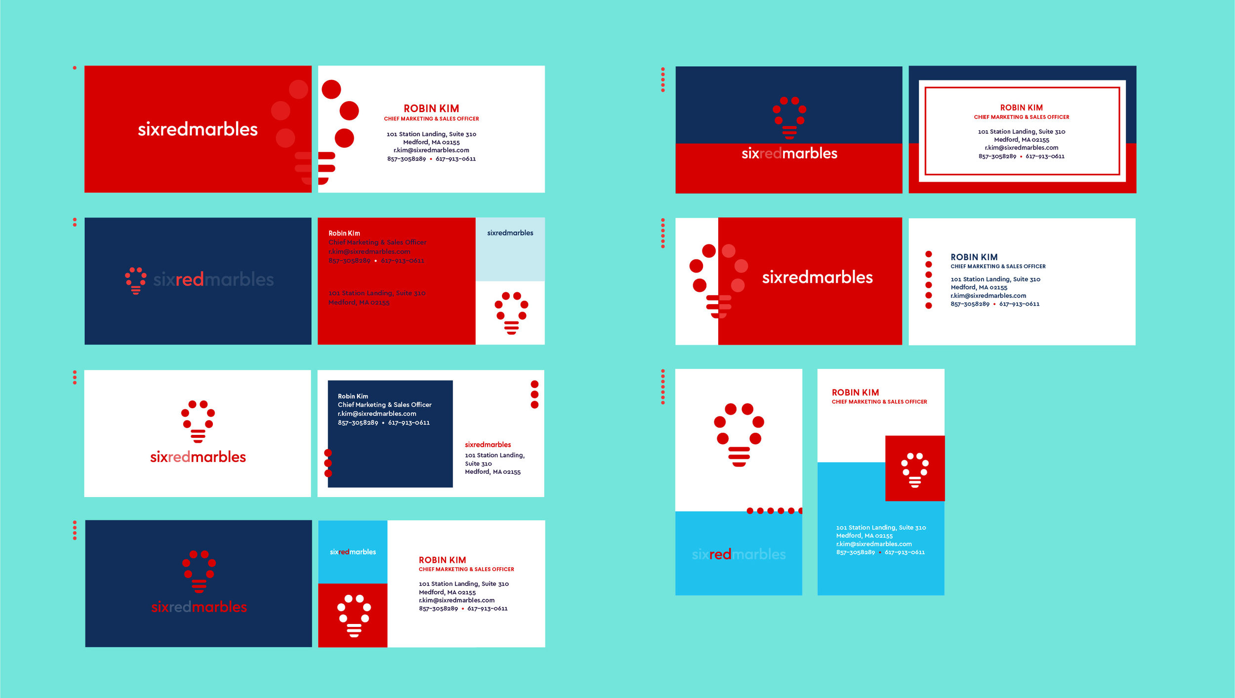 Six red marbles - SRM was in need of a brand refresh to modernize their look and mission. I worked on business card design, web design and an accompanying icon set for the rebrand.