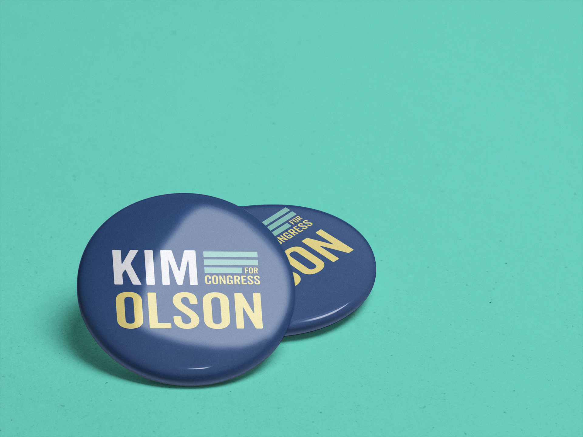 Kim olson branding - I was contracted to do logo and branding update for Kim Olson's bid for TX-24 Congress