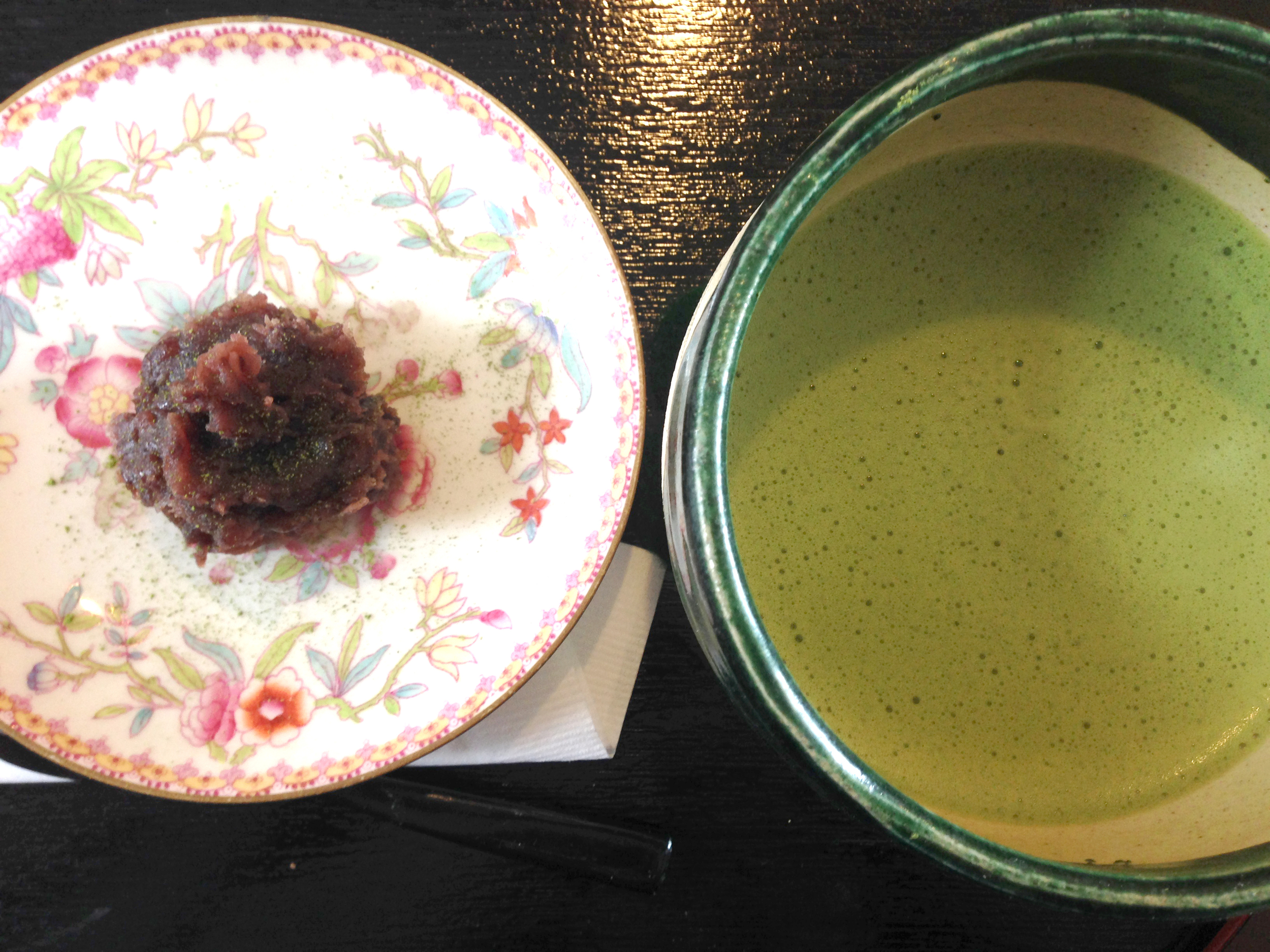 matcha set at Tan Tan Cafe