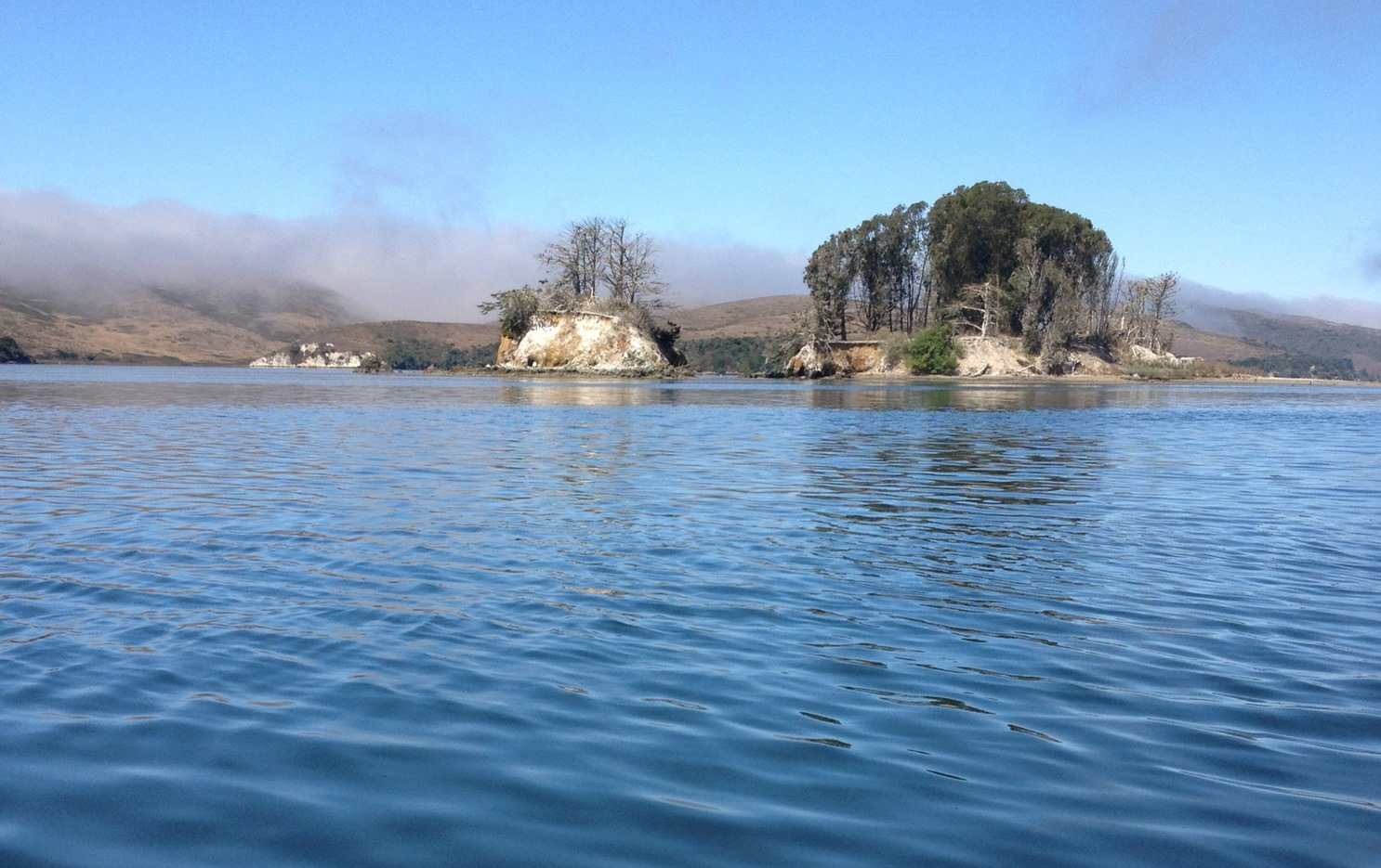 The view of Hog Island and Piglet from my kayak.