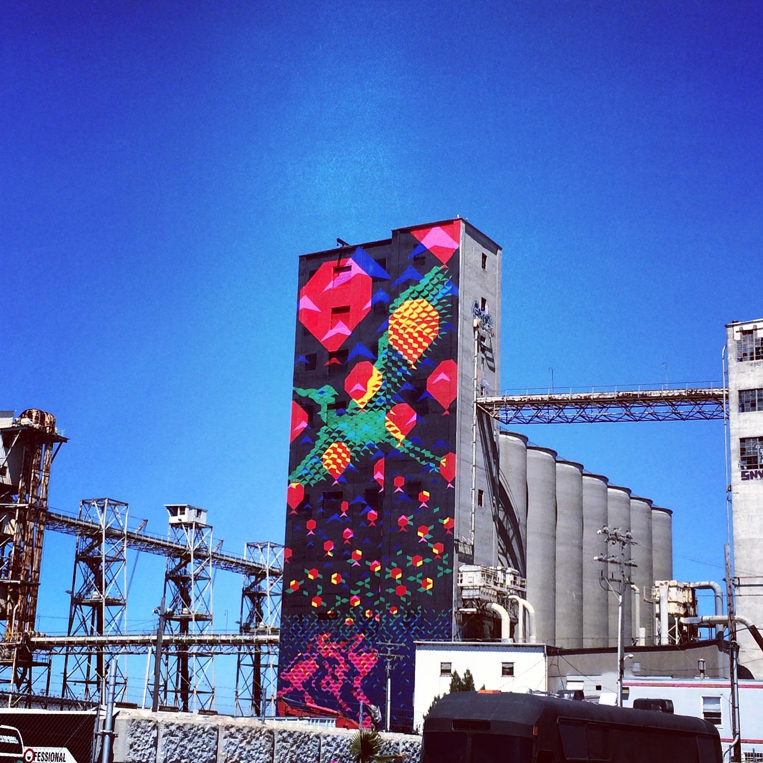 Giant Mural Bayview San Francisco