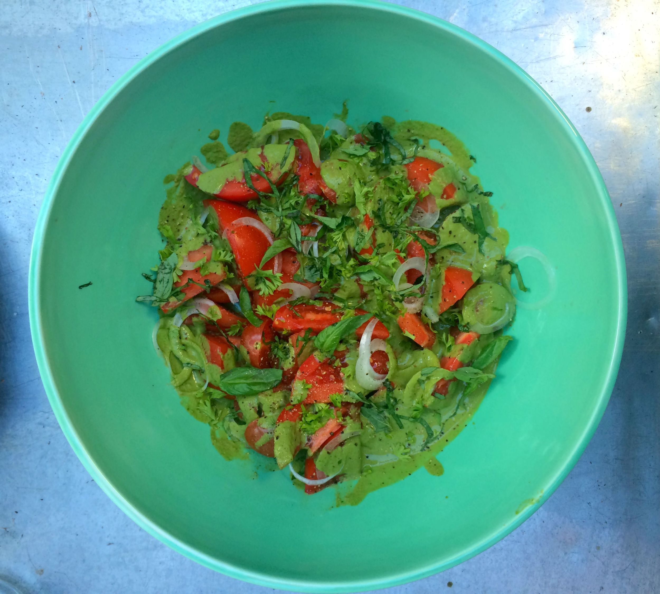 Creative Buisness League In The Kitchen Summer Tomato Salad