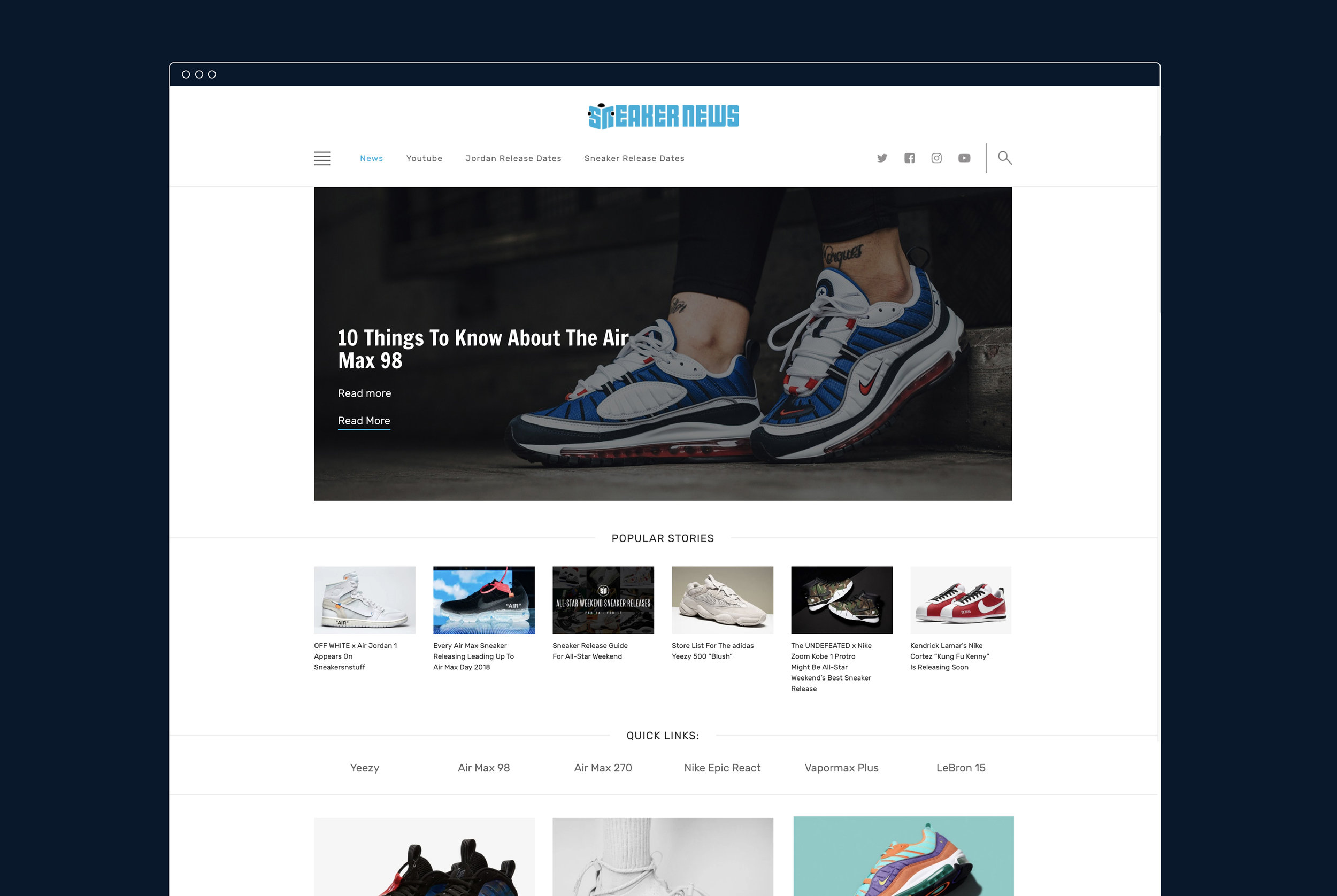 Sneaker News Website — Stefan Knecht