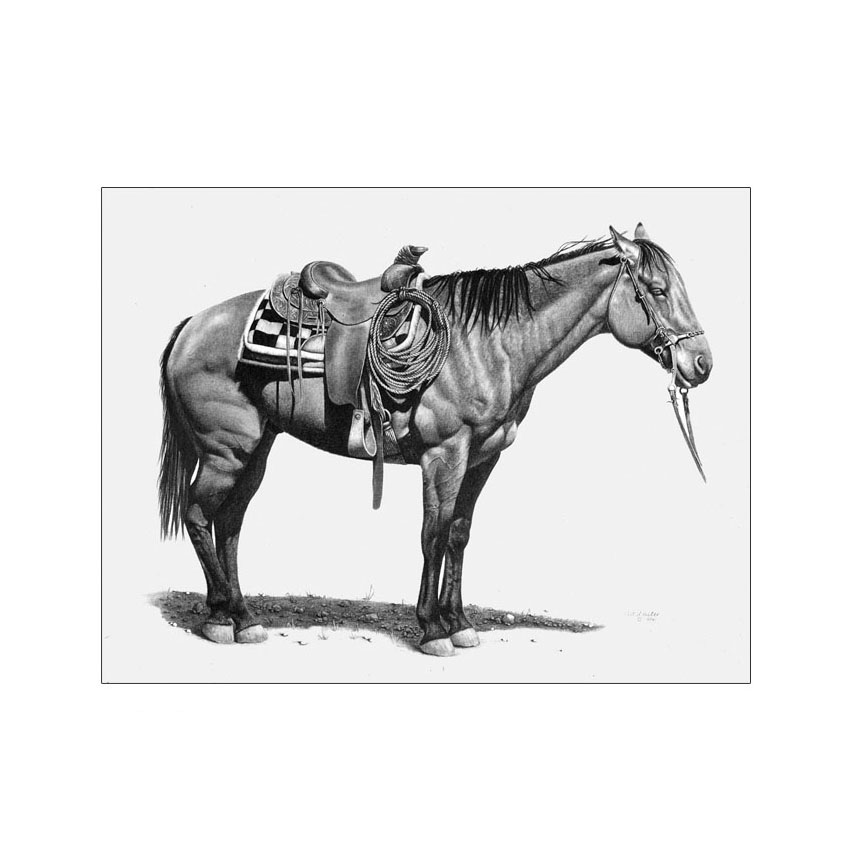 Wyoming Saddle Horse - Original Sold