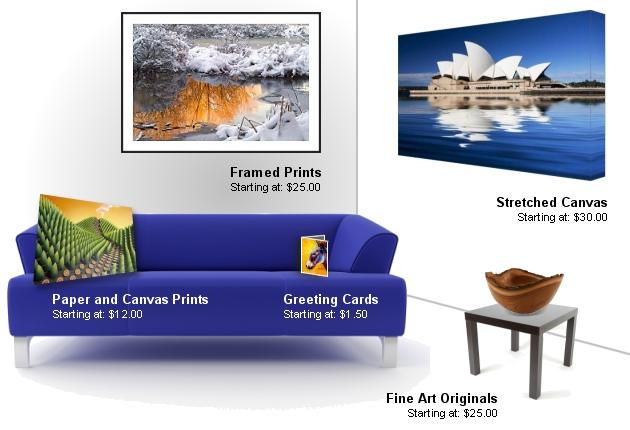Large selection of products at Fine Art America