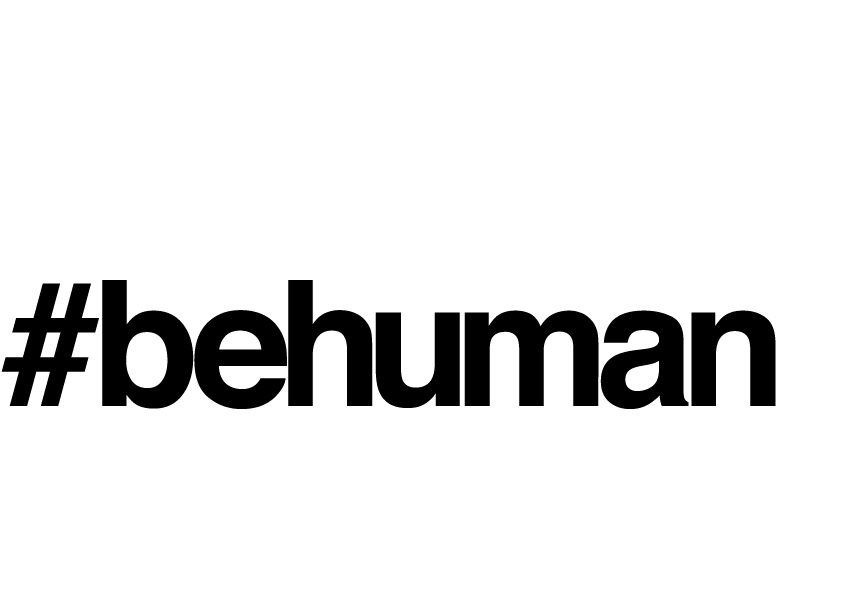 Graphic saying #behuman introducing the writing for social media section