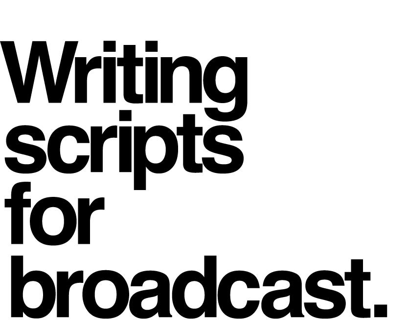 TV ad scriptwriting