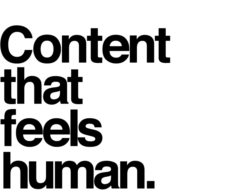 Web content that feels human