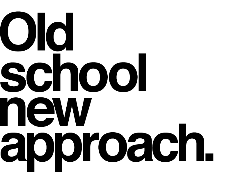 Old school new approach typography