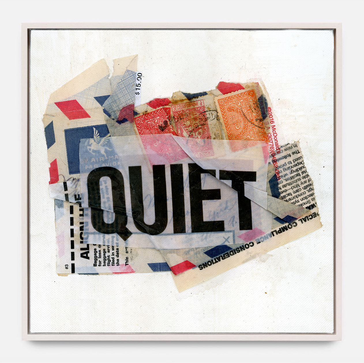 QUIET  (2018) Mixed Media on Wood Panel One of a Kind Hand Finish 36 x 36 inches Edition of 3 |  *SOLD  $ 1,700.00