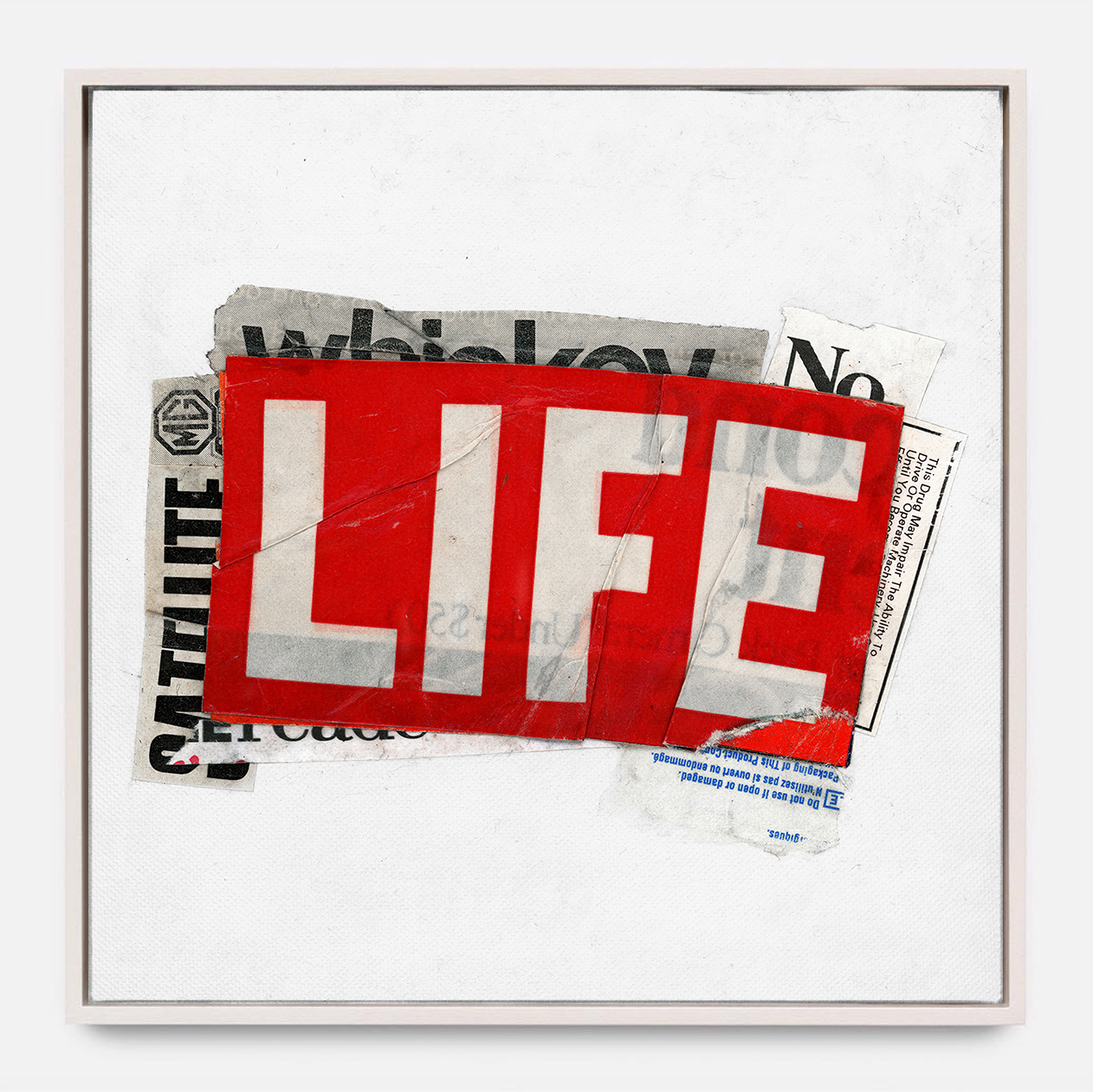 LIFE  (2018) Mixed Media on Wood Panel One of a Kind Hand Finish 36 x 36 inches Edition of 3 |  *SOLD  $ 1,700.00