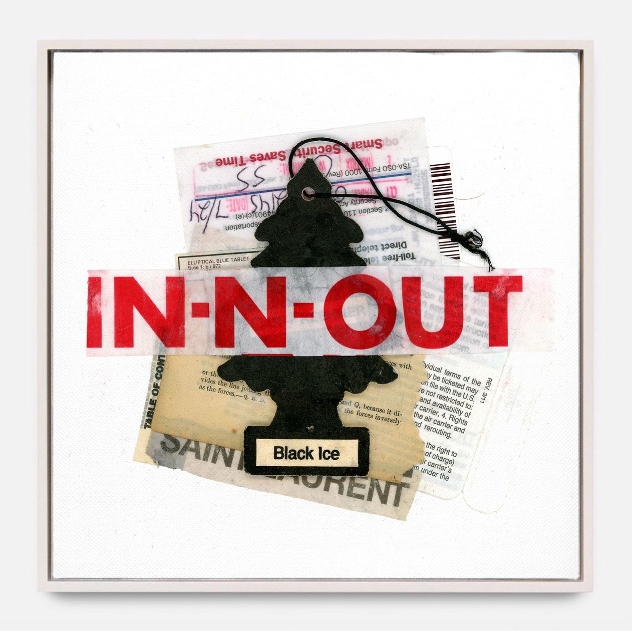 IN-N-OUT  (2018) Mixed Media on Wood Panel 40 x 40 inches One of a Kind $ 1,300.00