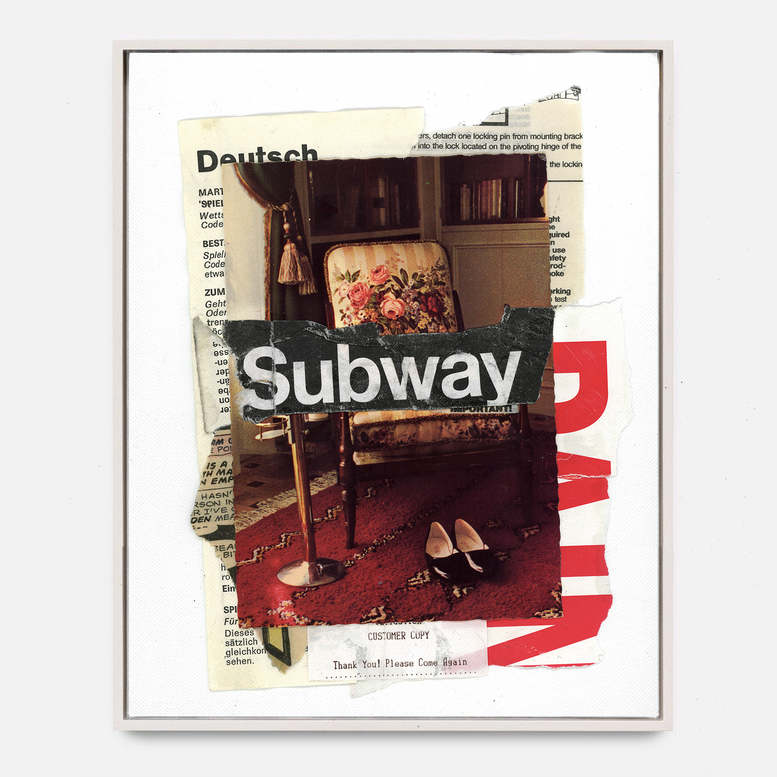 SUBWAY  (2018) Mixed Media on Wood Panel 48 x 72 inches One of a Kind $ 2,000.00