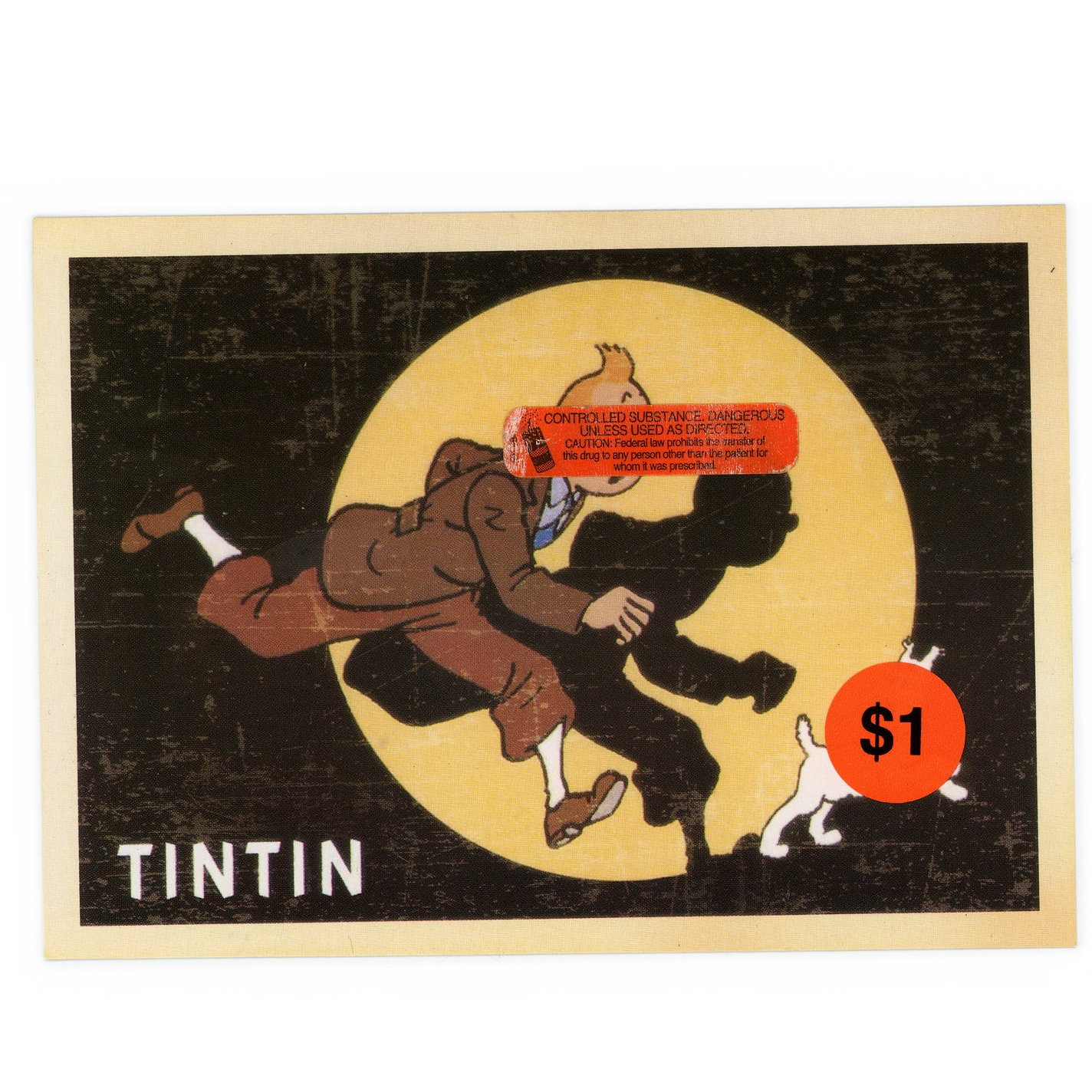 TINTIN  (2016)   Mixed Media on Paper 5 x 7 inches (framed) One of a kind $ 750.00