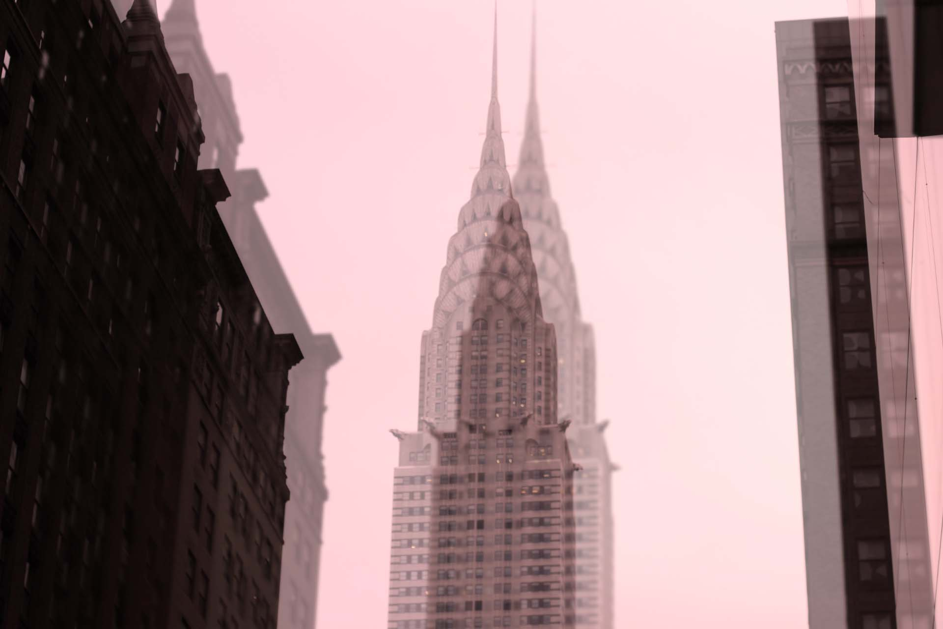 The Chrysler Building from below.