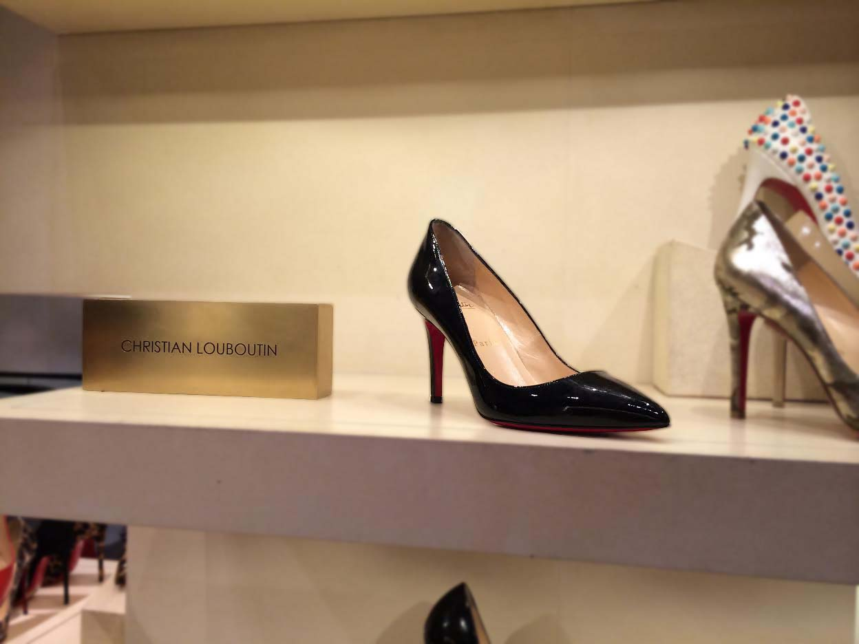 The coveted Louboutin Shoe at Bergdorfs!! I wanted to try it on so badly but was too afraid to ask.