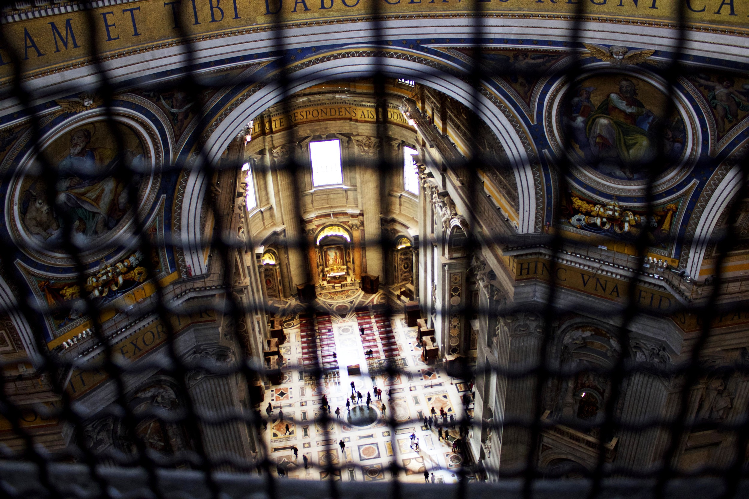 ^ Halfway up the dome! I stopped to take a few photographs looking down onto the ground floor of the basilica. This was a great perspective!