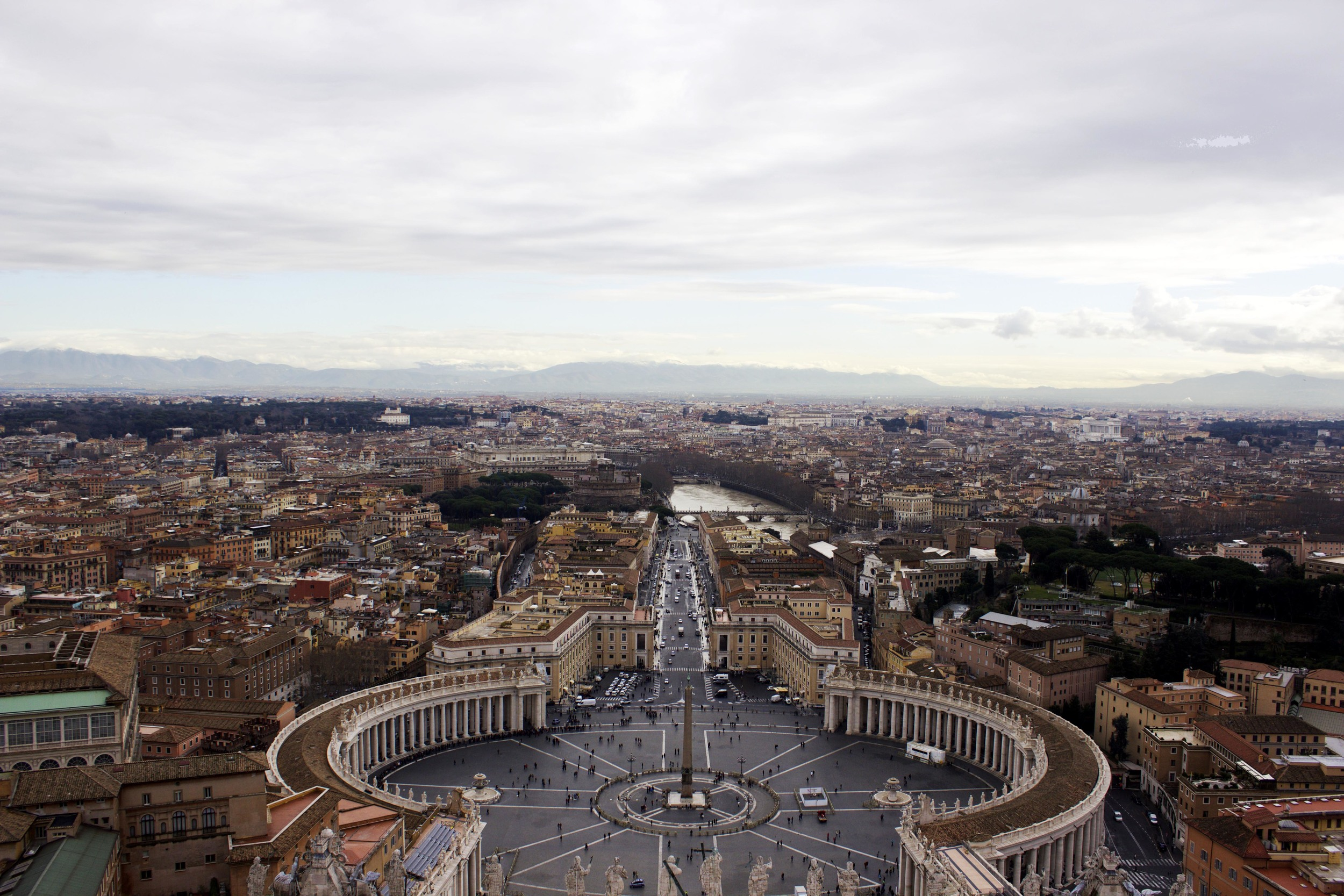 ^ The very rewarding view from the top of St. Peter's dome.