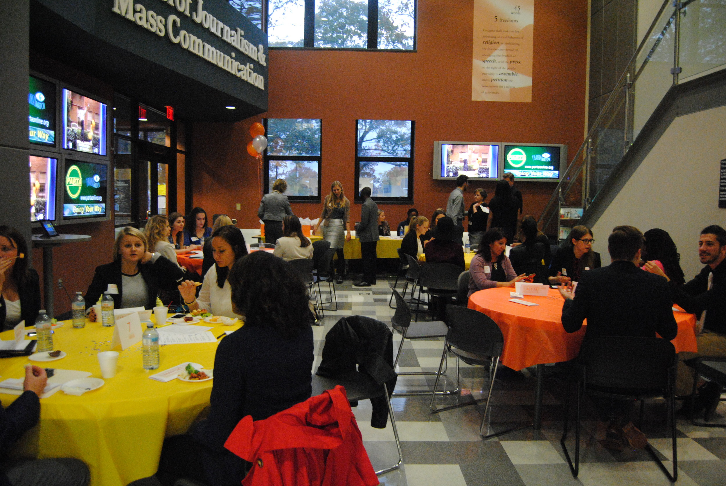 Students and professionals attend Communications Connection 2015