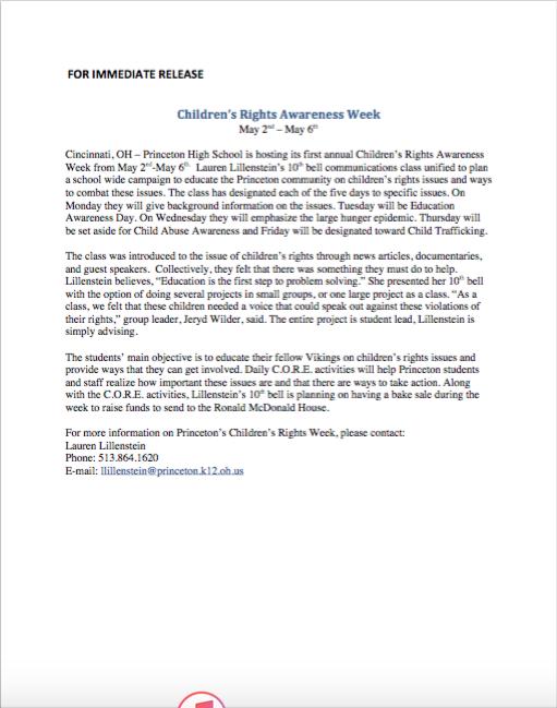 Children's rights press release