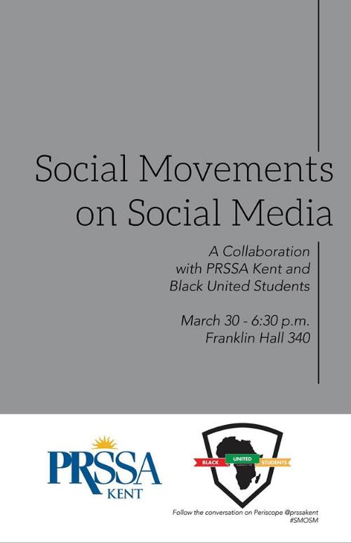 Social Movements on Social Media flier