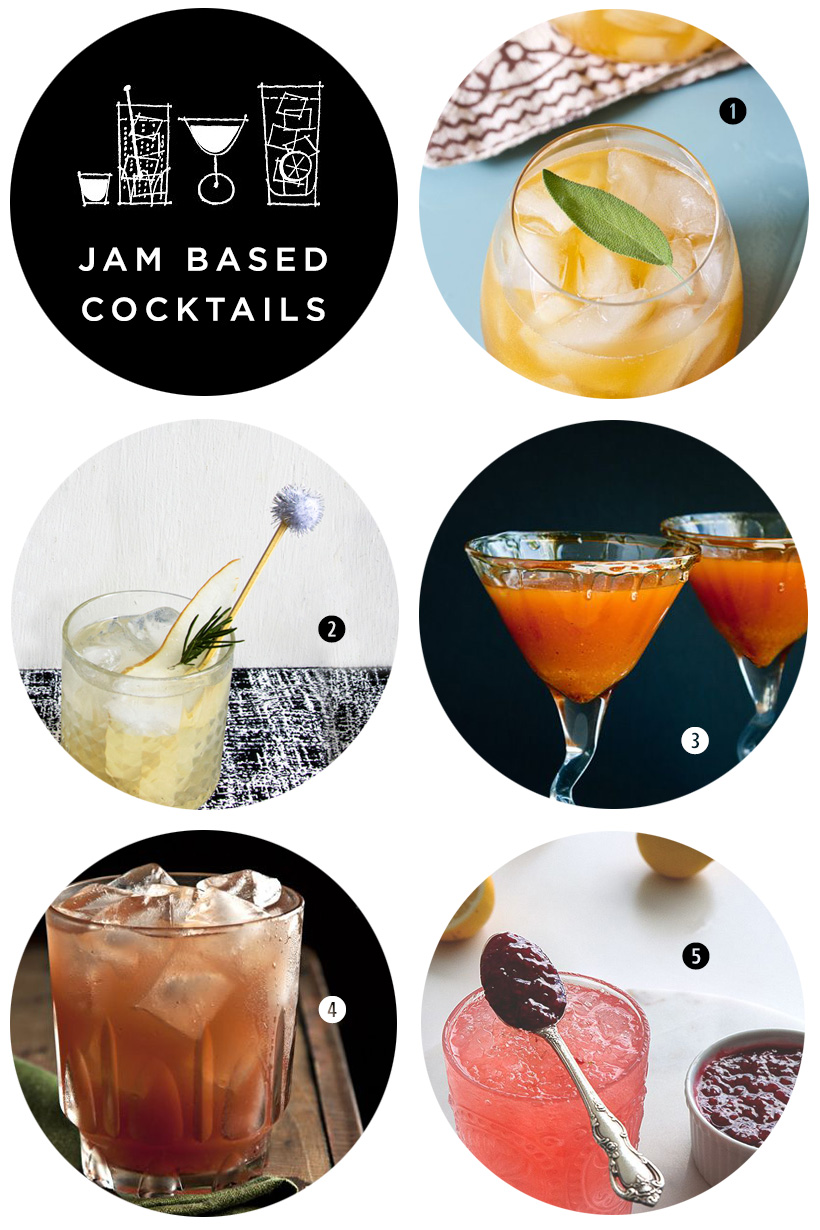 Pinterest Roundup | Jam Based Cocktails | SavoryPantryBlog