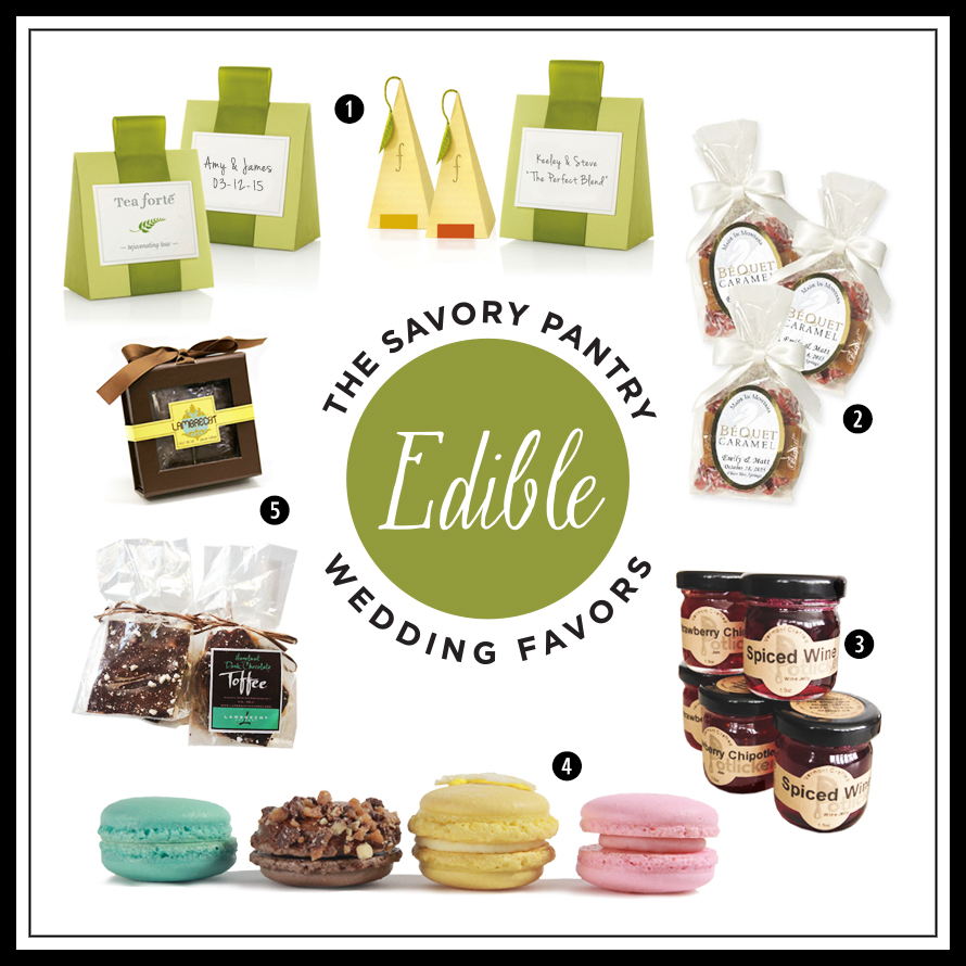 Edible Wedding Favors from SavoryPantry.com