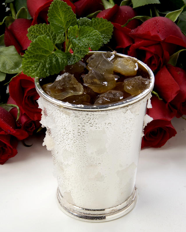 This recipe for the traditional mint julep can be made ahead of time, as the ingredients steep for 3 days!