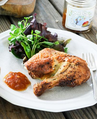 Chutney and Mustard Glazed Chicken   Mother's Day Lunch   SavoryPantryBlog.com