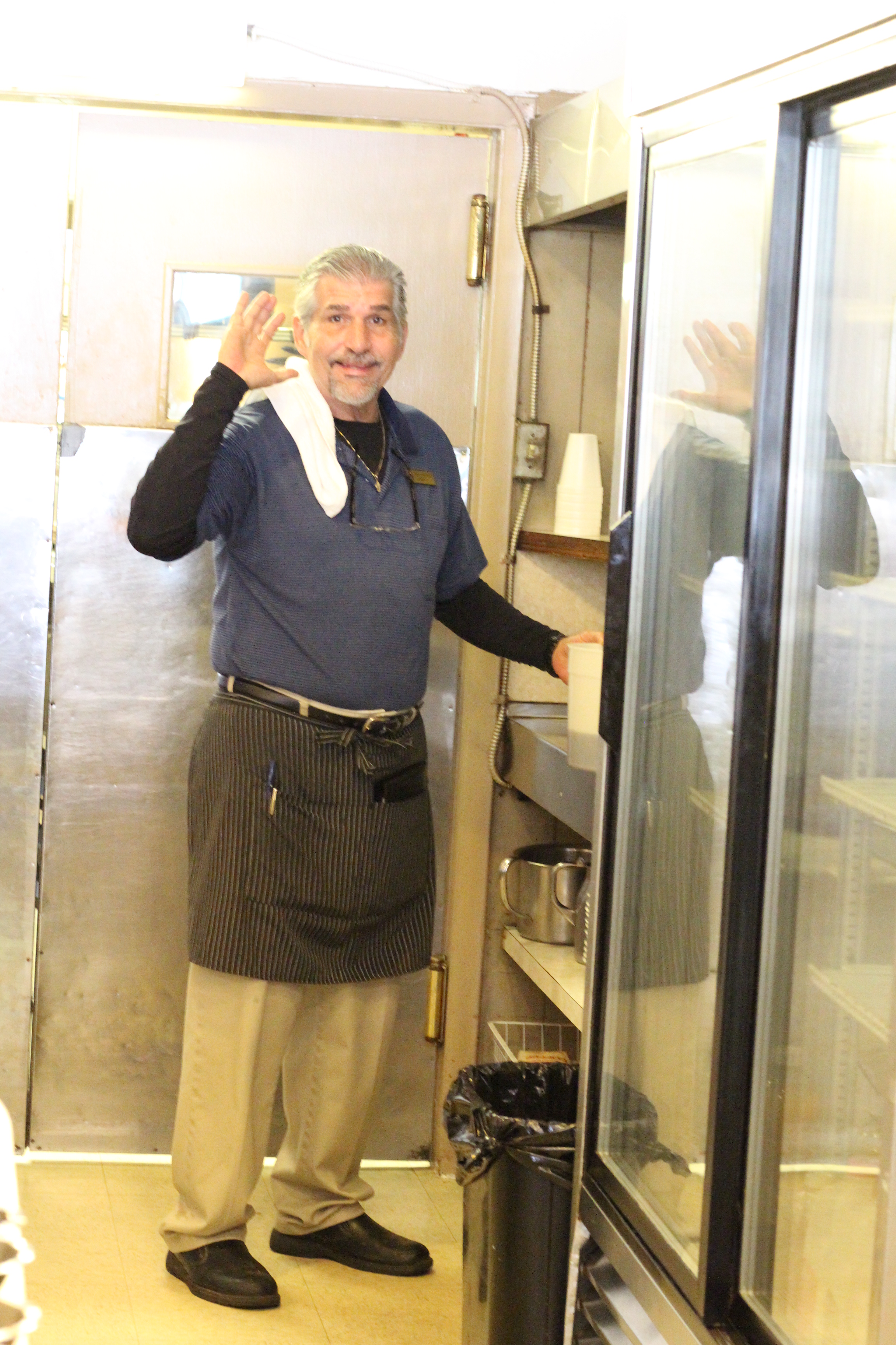 Robert's enthusiastic service comes with a smile.