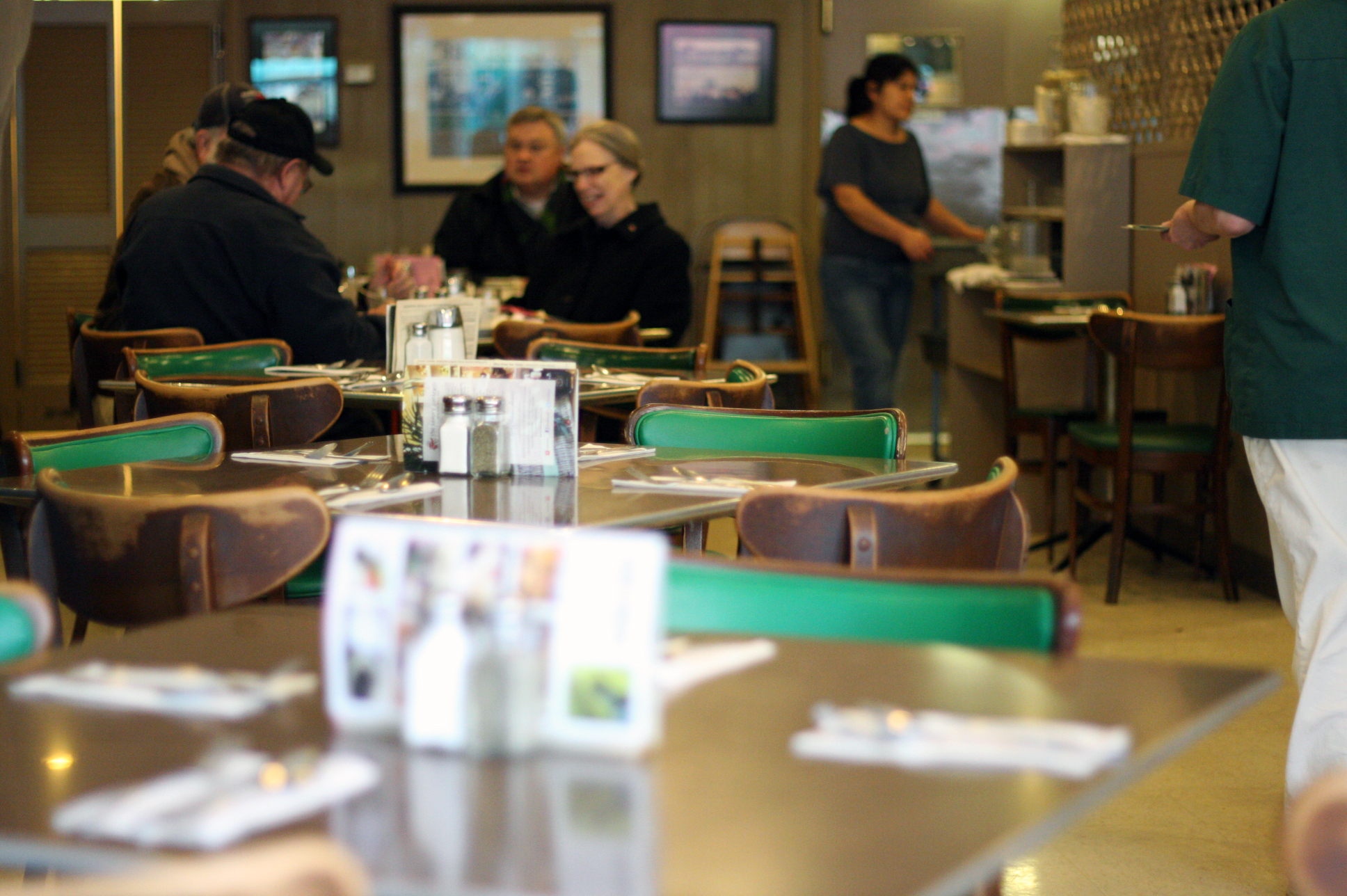 The Pancake Shop maintains an authentic atmosphere reminiscent of the early days of diner popularity...