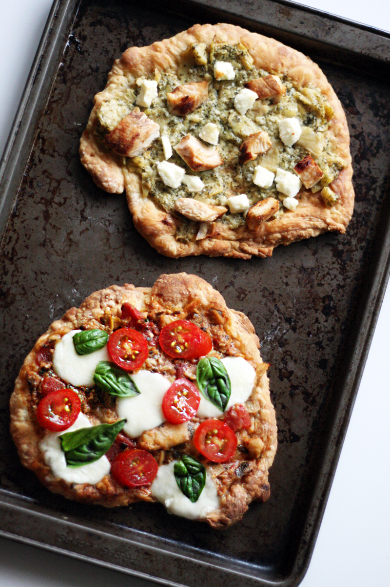 Easy Bruschetta Mini Pizzas | SavoryPantry.com