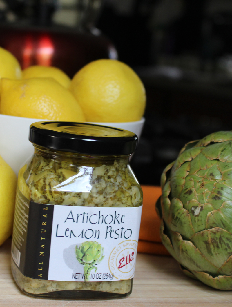 Recipe: Artichoke Lemon Pesto Dip in a Artichoke Dipping Bowl | SavoryPantryBlog.com