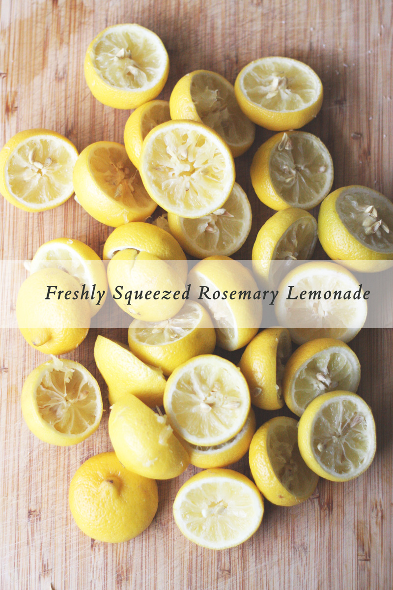 Freshly Squeezed Rosemary Lemonade   SavoryPantryBlog.com