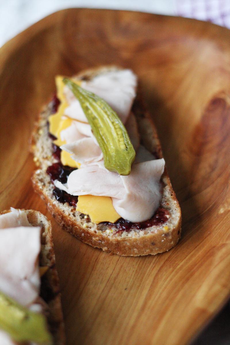 Turkey & Sharp Cheddar Sandwich with Mixed Berry Spread | SavoryPantryBlog.com