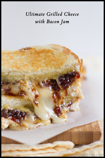 Roundup: Jam Sandwiches | Ultimate Grilled Cheese with Bacon Jam | SavoryPantryBlog.com