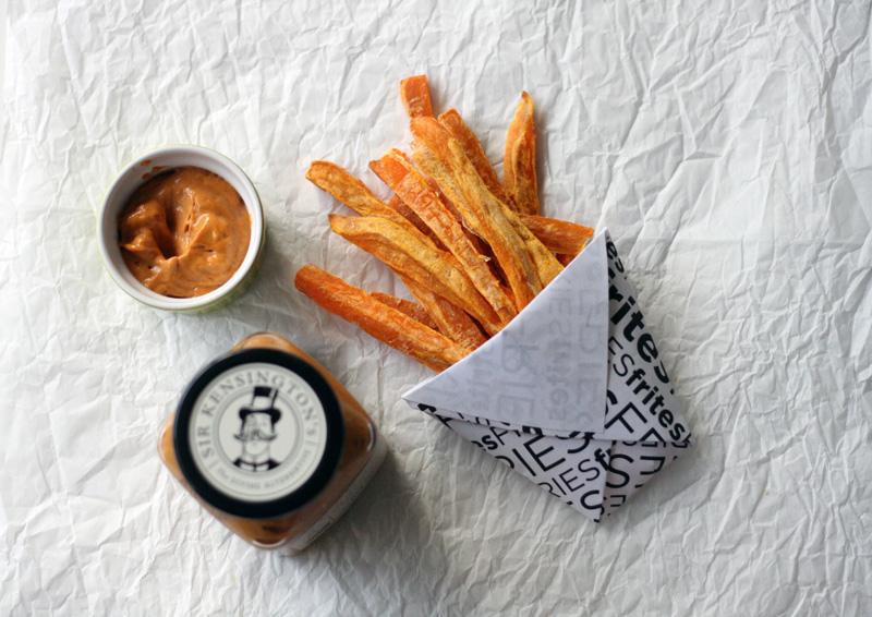 Sweet Potato Fries with Sea Salt & Chipotle Mayo Dipping Sauce | SavoryPantryBlog.com