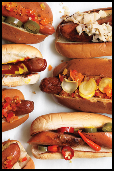 Tailgating Tips | Set up a Hot Dog Bar | SavoryPantryBlog.com