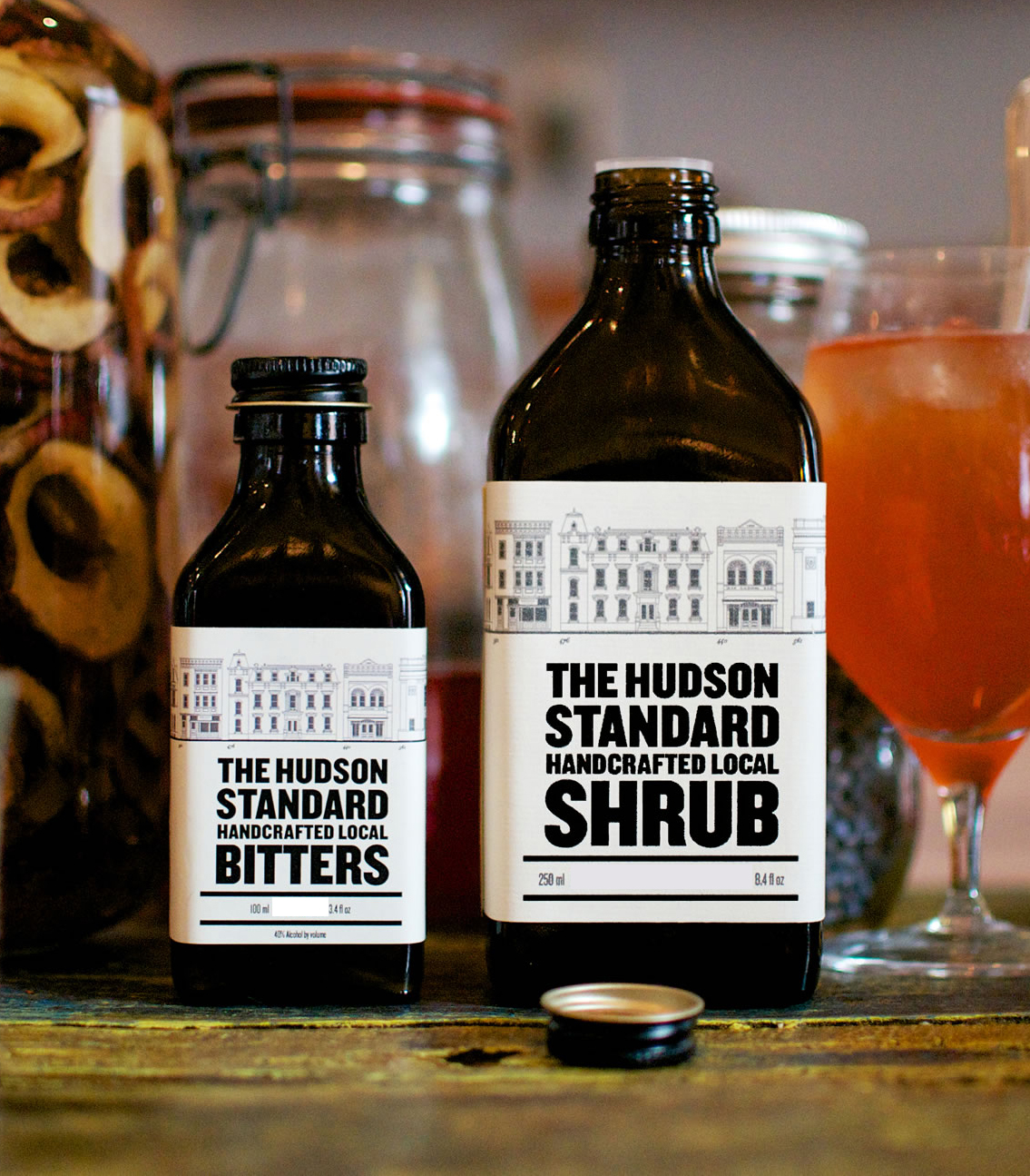 Strawberry Rhubarb Shrub from The Hudson Standard