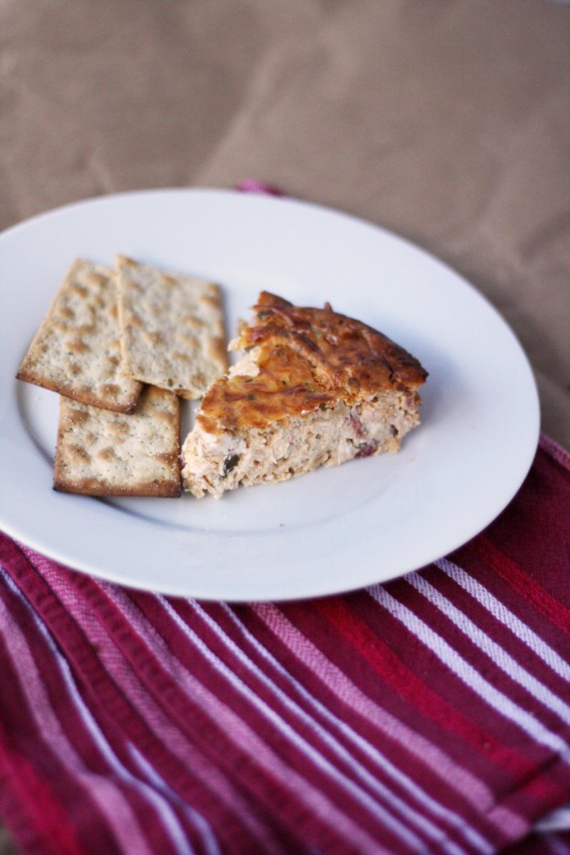 Artichoke Tomato Bruschetta Savory Cheesecake | SavoryPantryBlog.com
