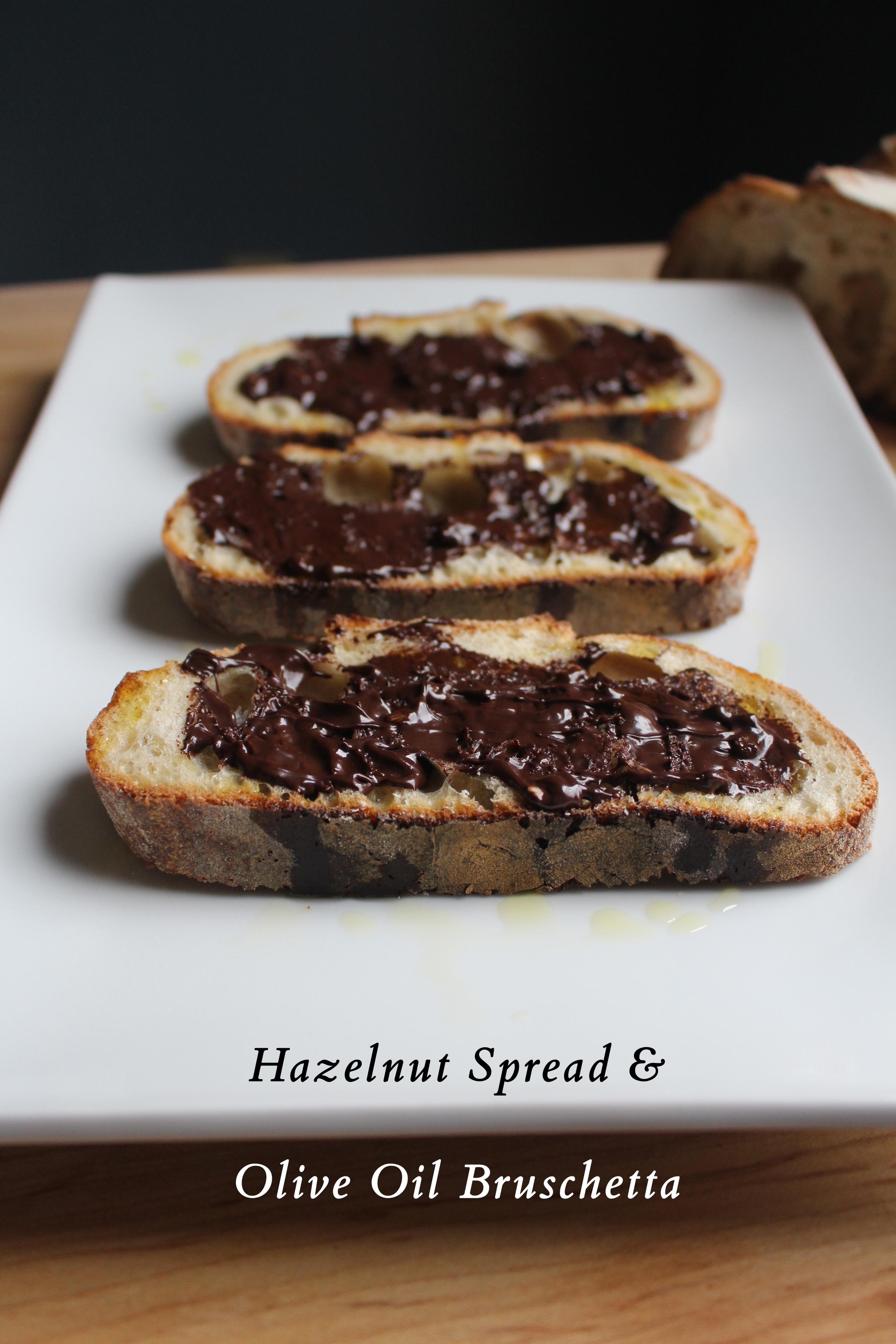 Hazelnut Spread & Olive Oil Bruschetta   SavoryPantryBlog.com