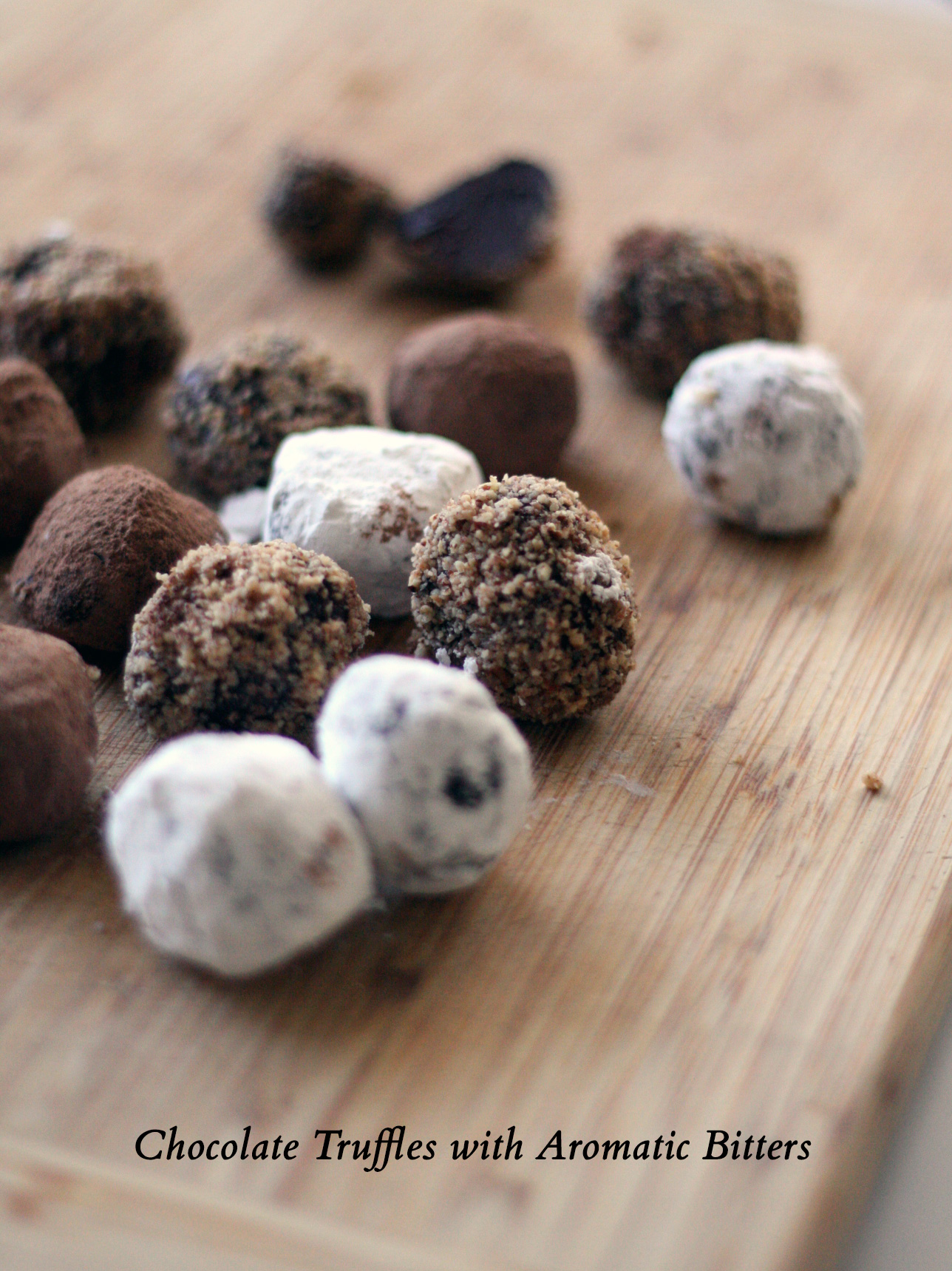 Chocolate Truffles with Aromatic Bitters  |  SavoryPantry.com