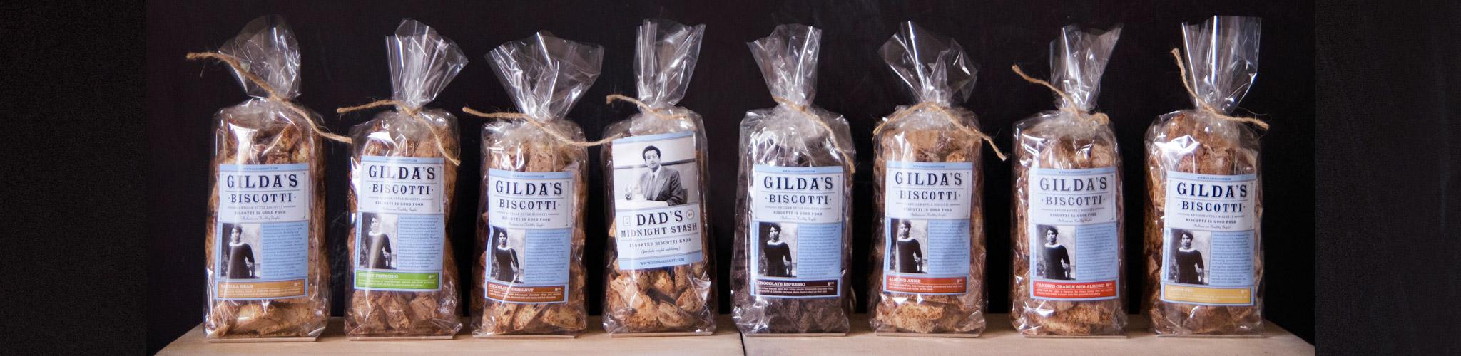 Gilda's Biscotti flavor lineup