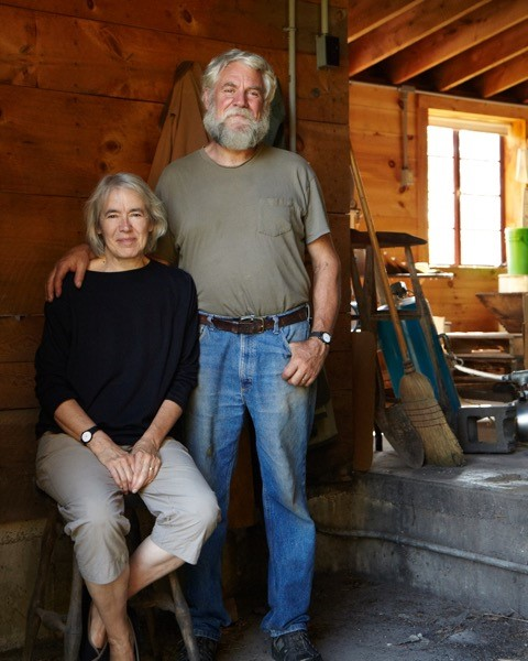Willis and Tina Wood at Wood's Cider Mill in Weathersfield, Vermont.