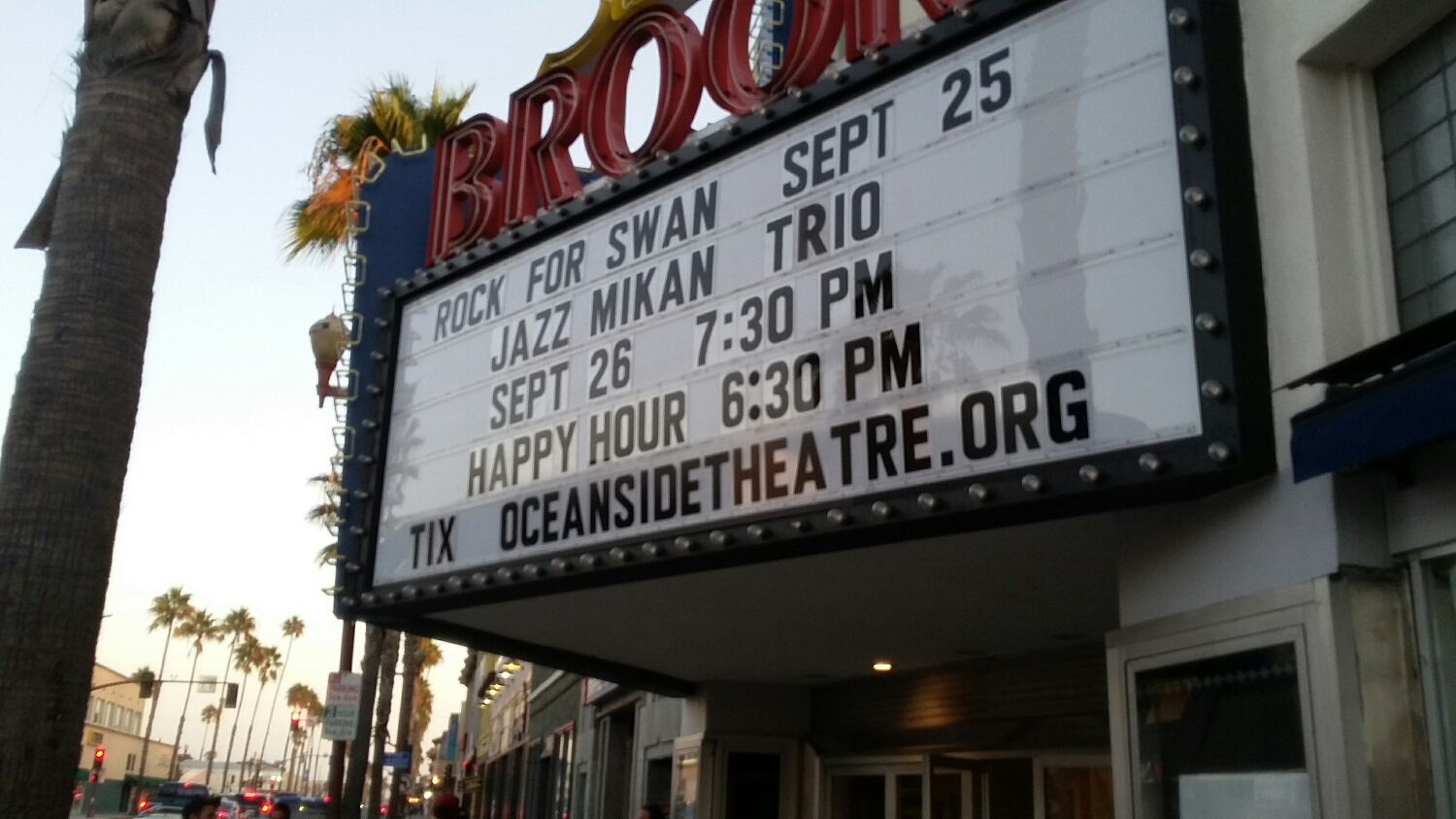 Oceanside California Brooks Theatre